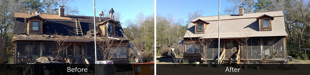 before and after new roof